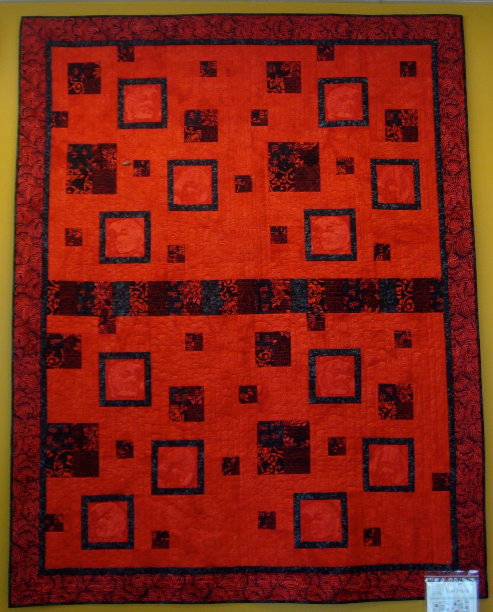Row House quilt made by Wendy Arend