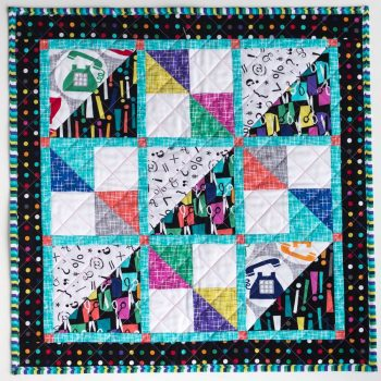 Savannah Squares Mini, a new quilt pattern by Kate Colleran