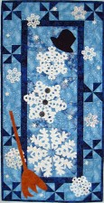 Sew Many Flakes, Sno Few Men - winter wall hanging pattern by Kate Colleran