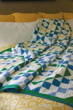 Quiltmaker magazine, blue and green quilt
