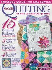 Autumnal Glow in McCall's Quilting