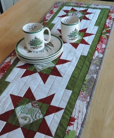 Easy Star Runner, a free quilt pattern by Kate Colleran