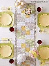 Square Scramble Table Runner pattern by Kate Colleran