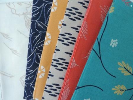 Block 1 fabrics