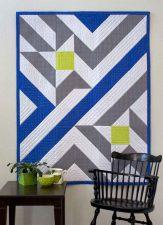Star Chart, a modern quilt by Kate Colleran
