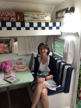 Me in the camper- I think I need one of these!