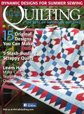 McCall's Quilting July/August 2016 featuring Kate Colleran