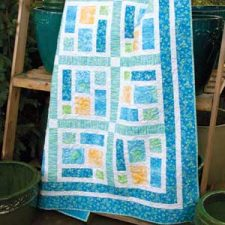 SeaGlass, a quilt by Kate Colleran