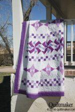 Violet Mist, a quilt by Kate Colleran