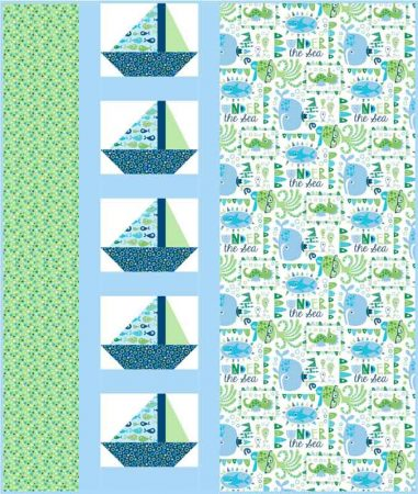Sail Away quilt pattern by Kate Colleran