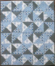 Quarter Turn Quilt Pattern by Kate Colleran