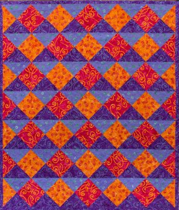 Quarter Turn - quilt pattern design by Kate Colleran
