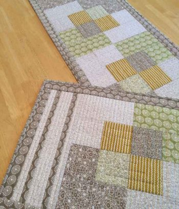 Stroll - a quilted placemat and table runner pattern design by Kate Colleran