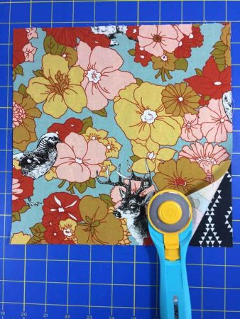 Wonky 9 Patch Tutorial featured by top US quilting blog and shop, Seams Like a Dream Quilt Designs: Layer squares both right sides up