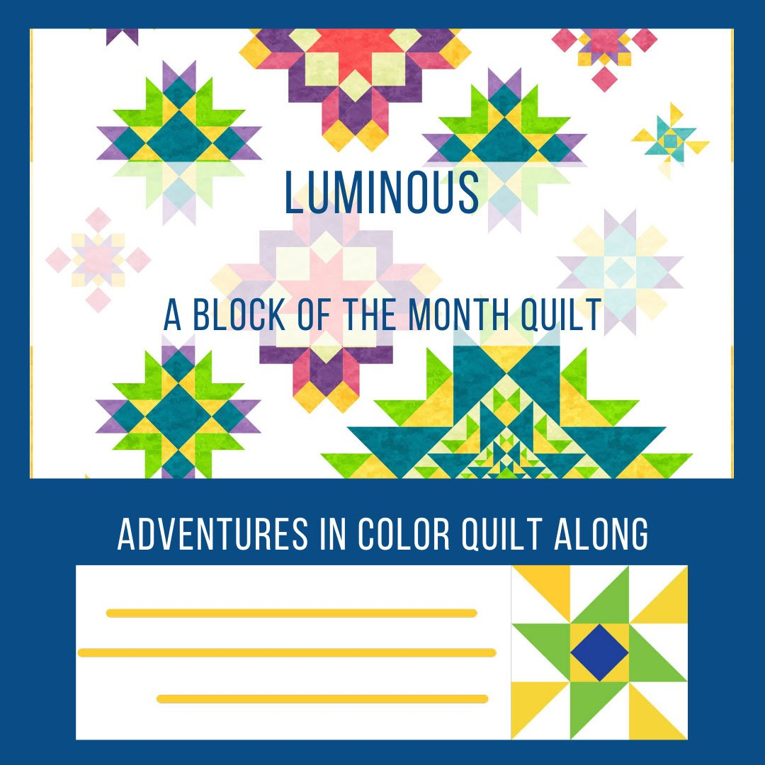 Quilt Along 2020 Project: Luminous featured by top US quilting blog and shop, Seams Like a Dream Quilt Designs