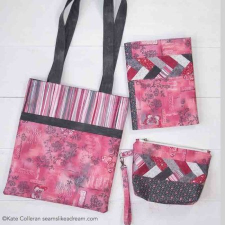 How to Make a Flat Bottom Bag, a sewing tutorial featured by top US sewing and quilting blog, Seams Like a Dream Quilt Designs