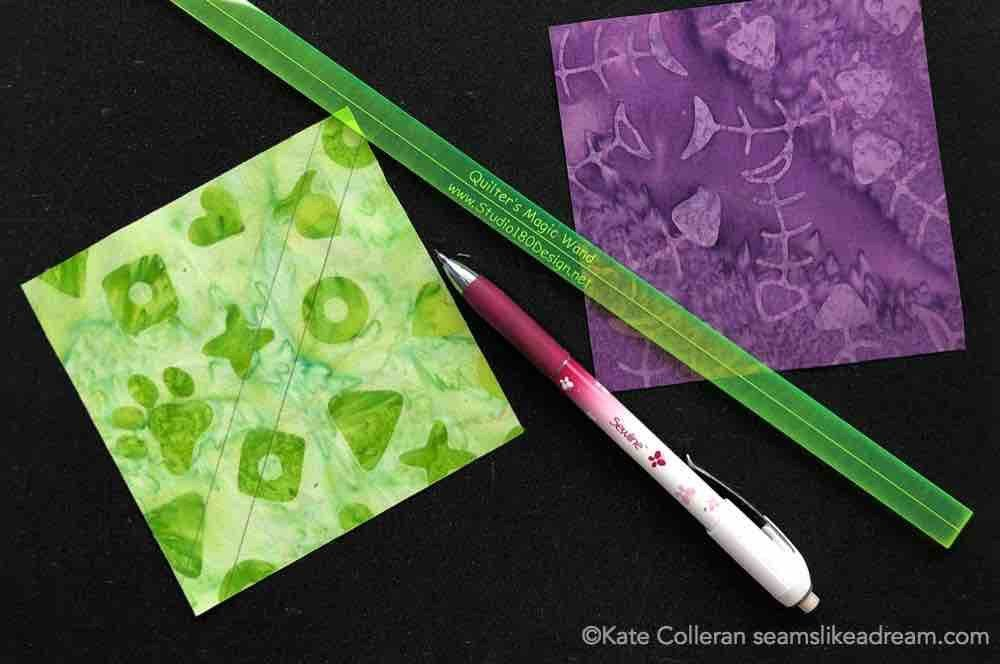 How to make quarter square triangles, a tutorial featured by top US quilting blog and shop, Seams Like a Dream Quilt Designs.