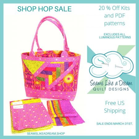Quilt Shop Hop #2 featured by top US quilting blog and shop, Seams Like a Dream Quilt Designs.