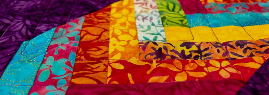 Tropical Terrace: aNew Braid Quilt Pattern featured by top US quilting blog and shop, Seams Like a Dream Quilt Design.